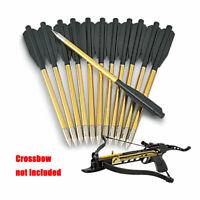 24 PCS 6.5'' Glden Aluminum Metal Arrow Bolts for 50lb & 80lb Pistol Crossbow