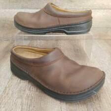 Birkenstock Footprints Womens Mule Clog Shoes Brown Leather Slip Ons US 9