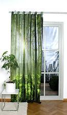 Grüner Wald Schlaufenschal Vorhang Digitaldruck blickdicht Gardine Dekoschal