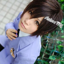 Ouran High School Host Club Haruhi Fujioka Short Dark Brown Anime Cosplay Wig