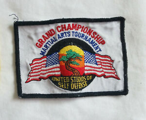 United Studios Self Defense Grand Championship Tournament Patch Martial Arts