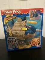 Fisher Price Great Adventures Shipwrecker Sub - NEW - Vintage 1997 - Diver