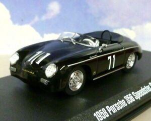 1/43 GREENLIGHT DIECAST 1958 PORSCHE 356 SPEEDSTER SUPER #71 BLACK STEVE MCQUEEN