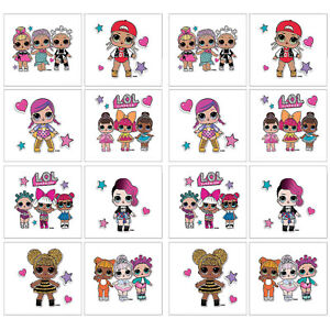 16 LOL Surprise Temporary Tattoos Birthday Party Favors Supplies ~ 2 sheet Dolls