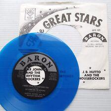 GUITAR JOHNNY Rhythm Rockers 45 BLUE VINYL Baron recs 4 song Mint Minus EP LC106