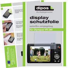2x Olympus VR-340 Schutzfolie matt Displayschutzfolie Antireflex Displayfolie