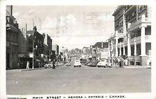 Kenora Ontario~Main Street~Bijou Theatre~Bakery Tea Room~Safeway 1940s Cars~RPPC