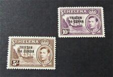 nystamps British St. Helena Stamp # 11.12 Mint OG H $54