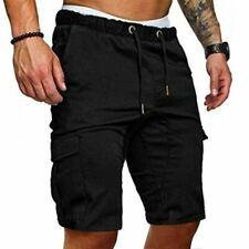 Men Cargo Work Shorts Military Style Straight Work Pocket Elasticated Summer Cas