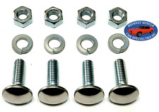 "Ford 5/16-18x1"" Stainless Capped Round Head Front Rear Bumper Bolts Nuts 4pcs K"