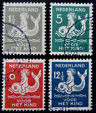 NED NVPH 225 - 228 Kinderzegels 1929 prachtig gebruikt CW 16,-