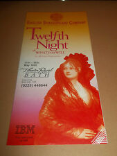 "THEATRE ROYAL BATH "" TWELFTH NIGHT "" HANDBILL / FLYER 1992"