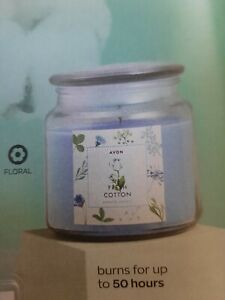 Avon Fresh Cotton Large Jar Scented Candle Mother's Day Birthday Gift