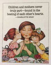 Mary Engelbreit Handmade Magnets-Children And Mothers Never Truly Part