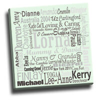 Your Words On A Canvas Print | Add Your Own Text  - 20+ Words | Sizes In Inches