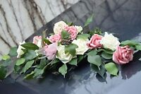Excl. Autoschmuck Rose altrosa-creme, Hochzeit, Braut  Neu