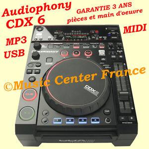 Audiophony CDX6 - platine CD à plat MP3 USB MIDI - NEUF et GARANTIE 3 ANS