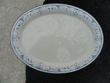 Lenox Country Blue White Blue Scrolls Rim Oval Serving Platter