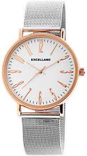 Excellanc Damenuhr Armbanduhr Meshband 41 mm