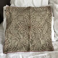 "New! Pottery Barn Beaded Linen 20"" X 20"" Throw Pillow"