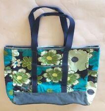 OLD NAVY Large Canvas Bag Tote Shopper Denim Canvas Floral Pattern Beach