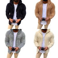 Outerwear Hoodies Fur Fleece Winter Thick Coats Men Jacket Hooded Fluffy Tops