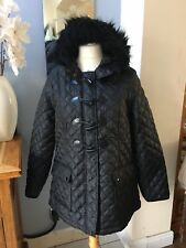 New Look Maternity Black Quilted Jacket UK 16