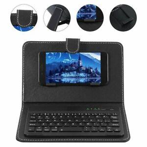 Drahtlose Bluetooth-Tastaturhülle Lederständerabdeckung für Handy Tragbar