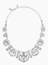 Gems Collar Necklace Silver Rhodium Crystal Kate Spade New York Grand Debut