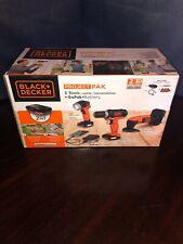 Black & Decker Project Pak 4 Tools Lite, Drill, Jigsaw, Sander & GoPak Battery