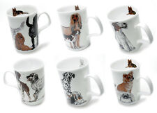 Roy Kirkham Set of 6 Dogs Galore Mugs Fine Bone China 320ml Tea Coffee Gift New