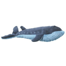 Wildlife Artists Whale Stuffed Animal Plush Toy, Blue