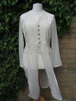 C&A Yessica Vintage Ladies White Top With Long Hem Size 12 EUR 40