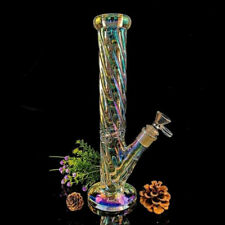 30cm Glass Luminous Hookah Bong Water Pipe Smoking Pipe Shisha Tobacco Bong
