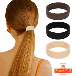 3 Colors Foldable One Wide Pony Band Clip Wide Pony Hair Band O Hair Tie Band UK