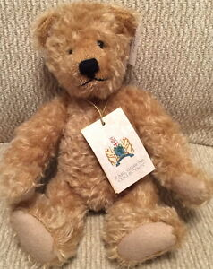 "KARL GIBBONS Collection 1999 ""ETHELRED"" Mohair Teddy Bear #36/1000 w/Tag England"