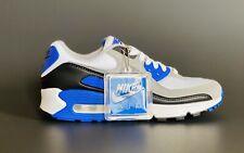 Nike Air Max 90 LTR White Blue Gray Size 6.5