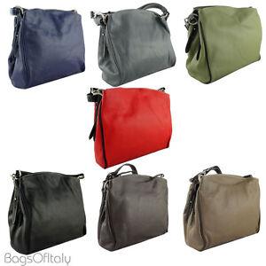 Cavalieri Italian Leather Handbag - Adjustable Strap, 2 Compartments