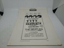 THE BEATLES HELP! FILM 1965 UNITED ARTISTS TABLOID  PRESSBOOK - ULTRA RARE