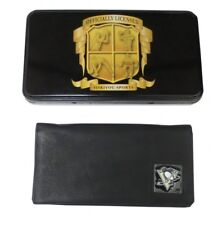 Pittsburgh Penguins Leather Checkbook Cover w/ Tin