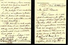 Lettera Autografo Conte Ernesto Rossi di Montelera Accademia Filarmonica Torino