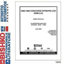 1998 1999 Chrysler Concorde LHS 300M (LH) Dodge Intrepid Parts Numbers CD