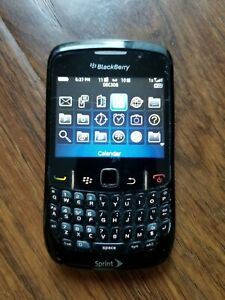 BlackBerry Curve 8530 Black Sprint Smartphone Fast Shipping Good Used