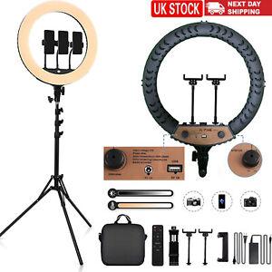 "18"" Dimmable LED Ring Light w/ Tripod Stand Phone Holder fr TikTok YouTube Video"
