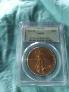 1923-D $20 Saint Gaudens MS65 pcgs