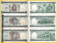 Eritrea Set 1, 5, 10 Nakfa 1997 UNC Banknotes