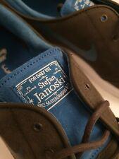 Nike SB Lunar Stefan Janoski Deep Pewter/Brigade Blue White - UK11/US122 no box