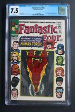 FANTASTIC FOUR #54 3rd BLACK PANTHER 1966 1st Evil Eye INHUMANS Kirby CGC 7.5