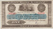 More details for p306 northern ireland ulster bank £1 banknote in near very fine condition 1931