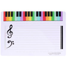 2Pcs Erasable Writing Staff White Board Music Teaching Drawing Board Home
